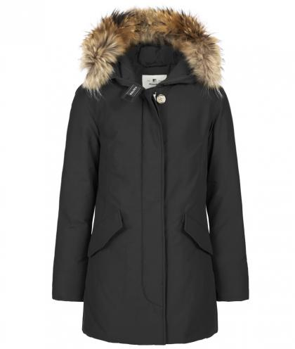 Woolrich Arctic Parka FR Girl with real fur - black