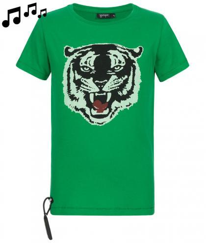 Yporqué Sound- Shirt mit Tiger-Print in grün
