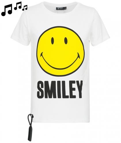 Yporqué Sound- Shirt mit Smiley in weiss