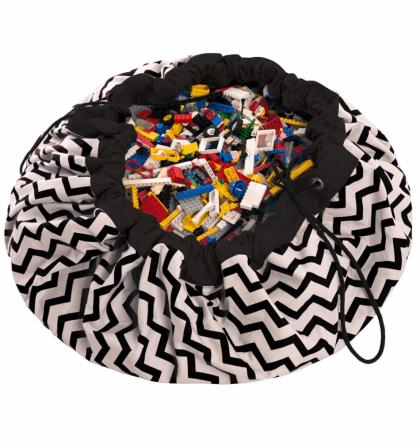 Play&Go 2in1 Toy Storage Bags & Playmat ZigZag