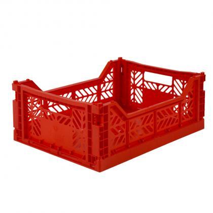 Ay-Kasa stabelbare Klappbox Midi, 40x30x14 -  rot