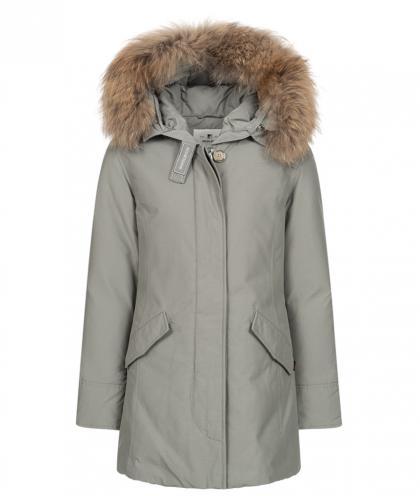 Woolrich Arctic Parka FR Girl mit Echtfell - grau