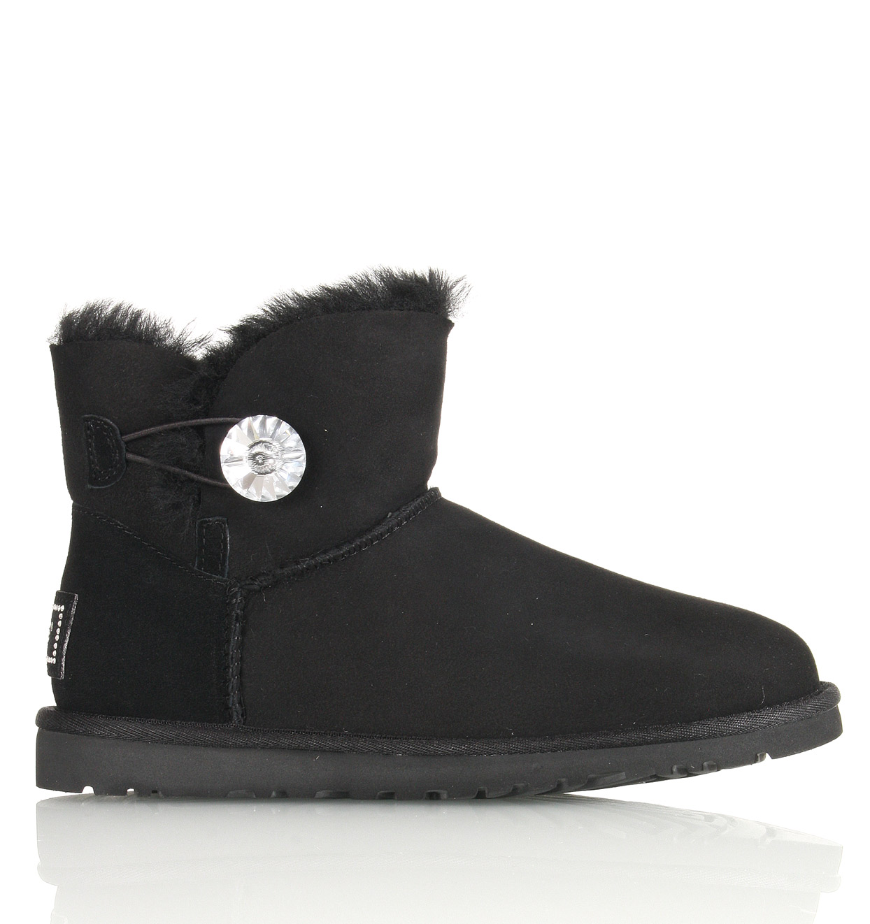 UGG Damen Mini Bailey Button Bling in schwarz