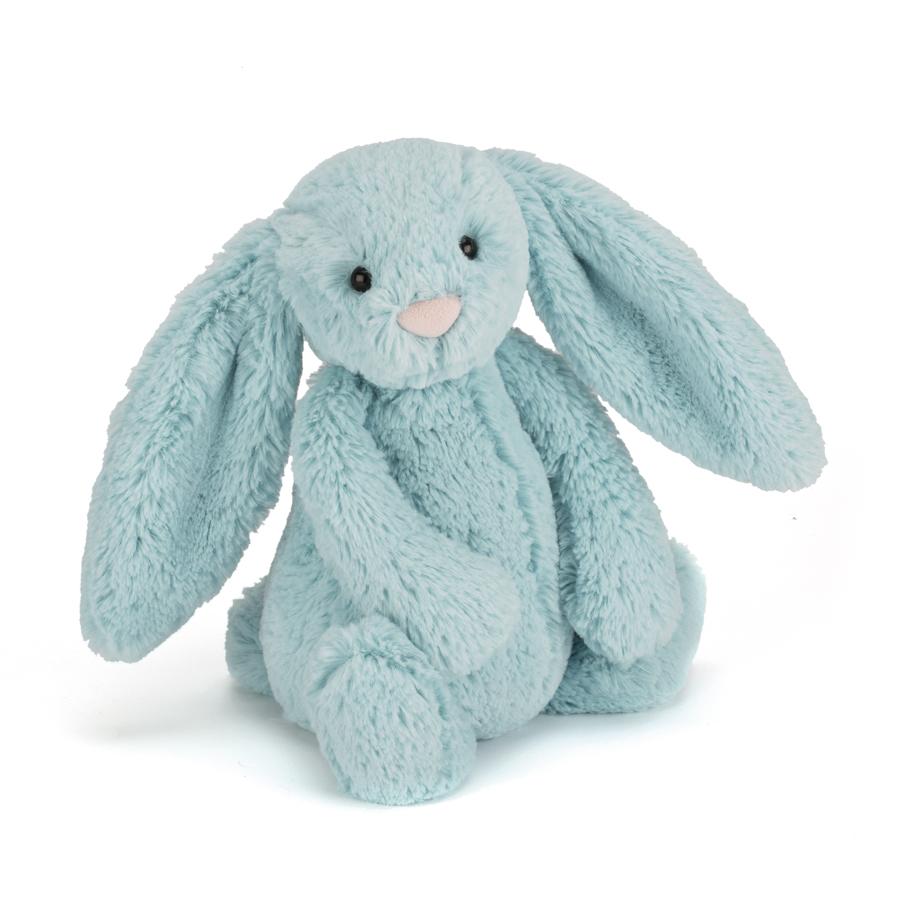 Jellycat Bashful Aqua Bunny in mint (S-M)
