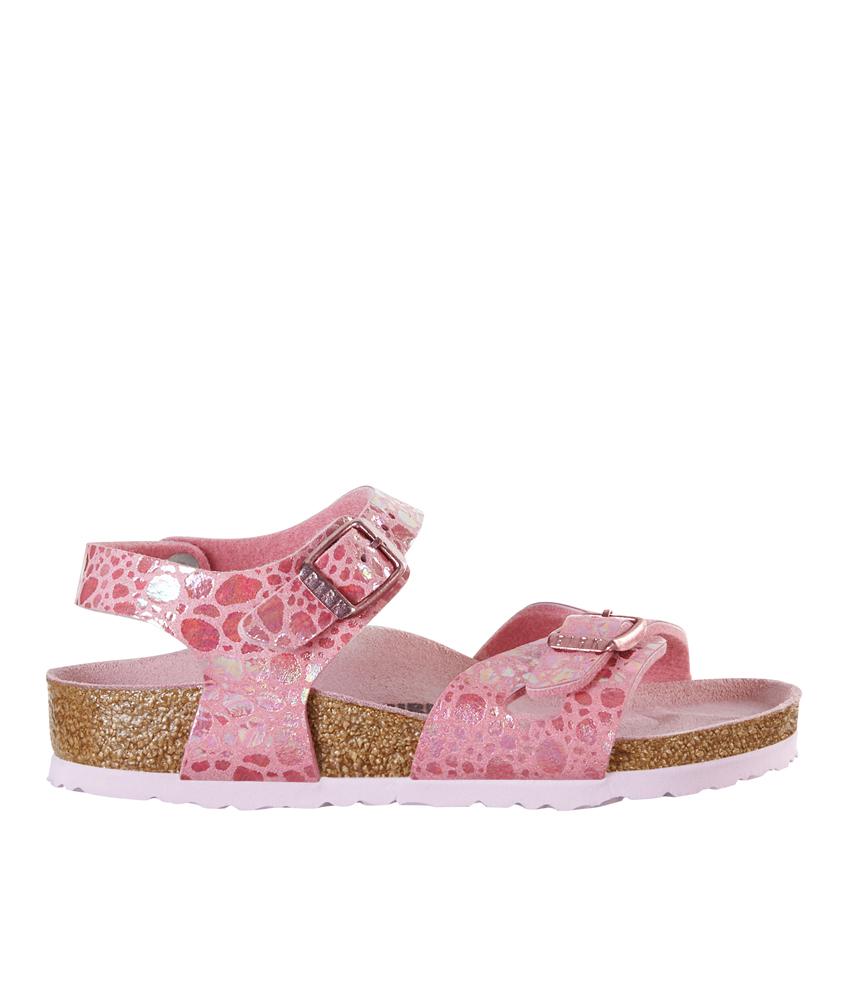 Birkenstock Sandale Rio Kids Metallic Stones in pink