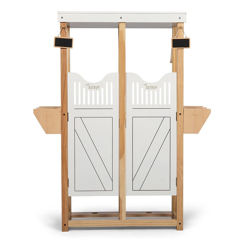 By Astrup Holzstall für Steckenpferde - weiß