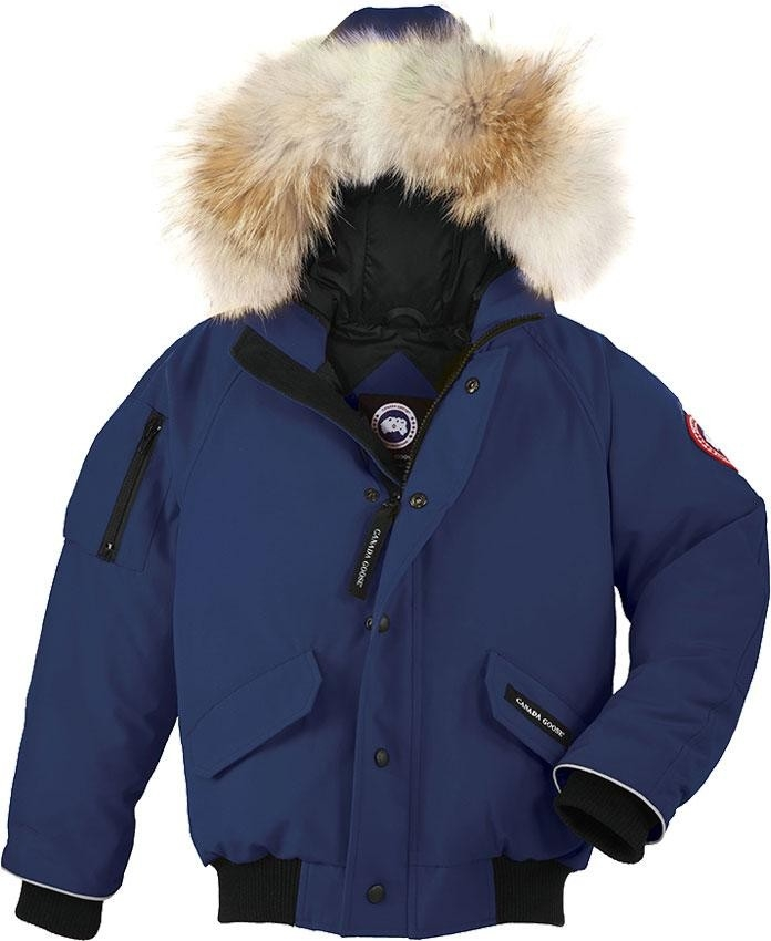Canada Goose Kids Rundle Bomber in Pacific Blue