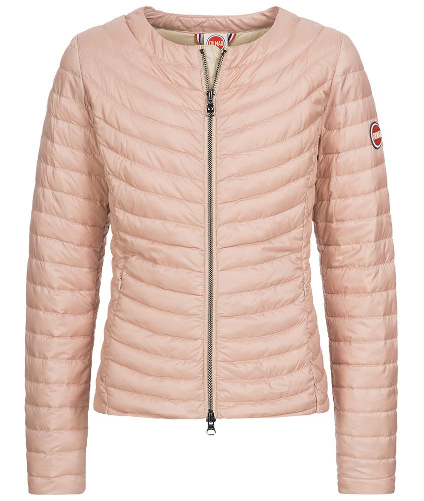 Colmar Punk Sommerdaunen Jacke in rosa