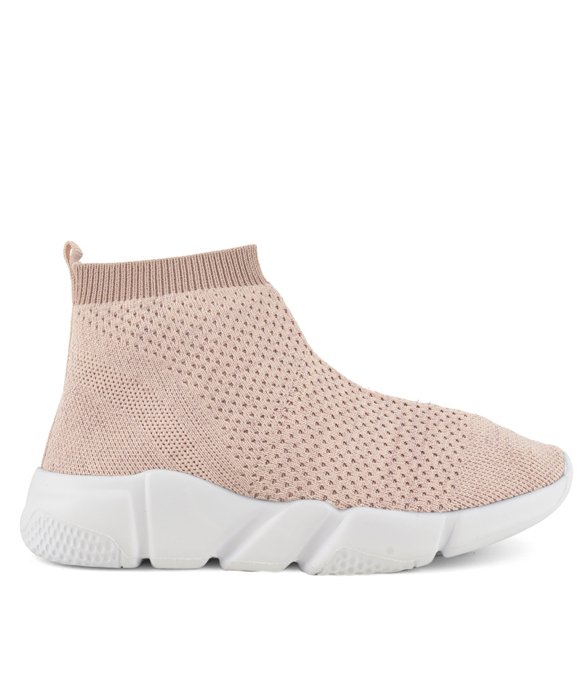 Colors of California Textil High Sneaker - rosa