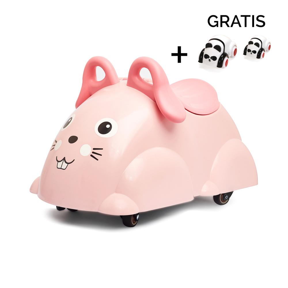 Viking Toys Cute Rider Rutscheauto Hase mit gratis Mini Cute Car Set - rosa