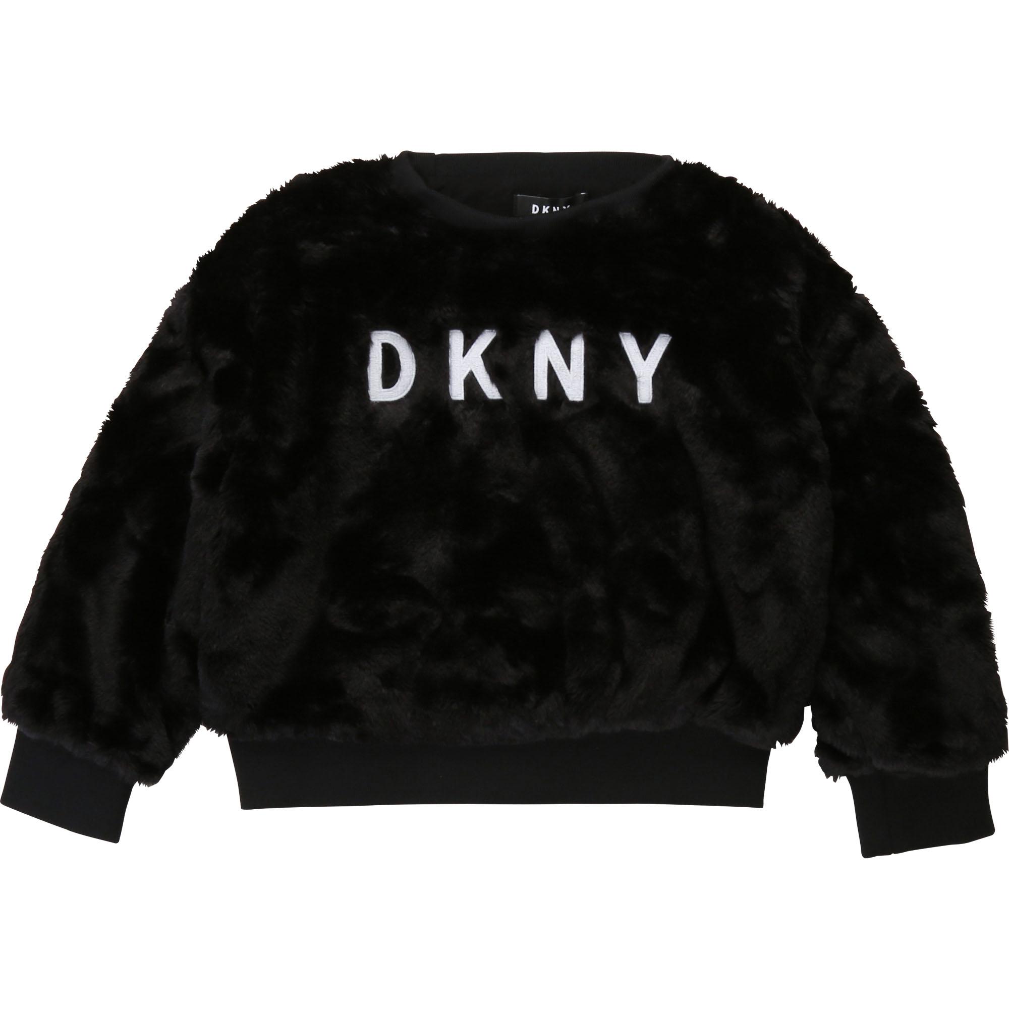 kids style lounge   dkny fake fell sweatshirt - schwarz