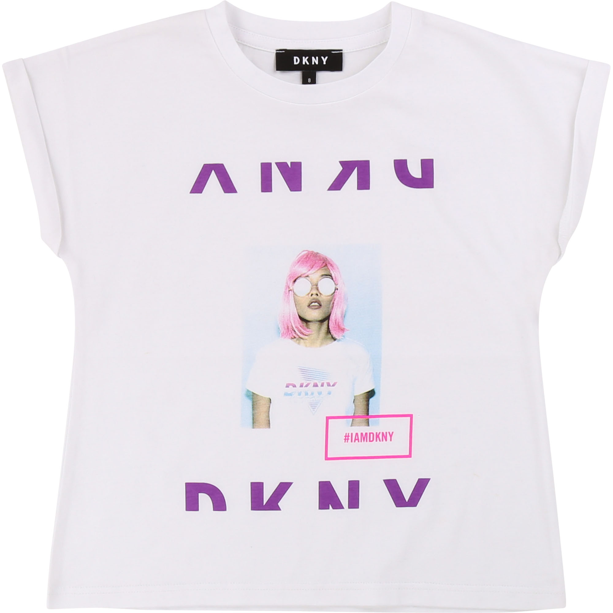 DKNY Photo Print Shirt - weiß