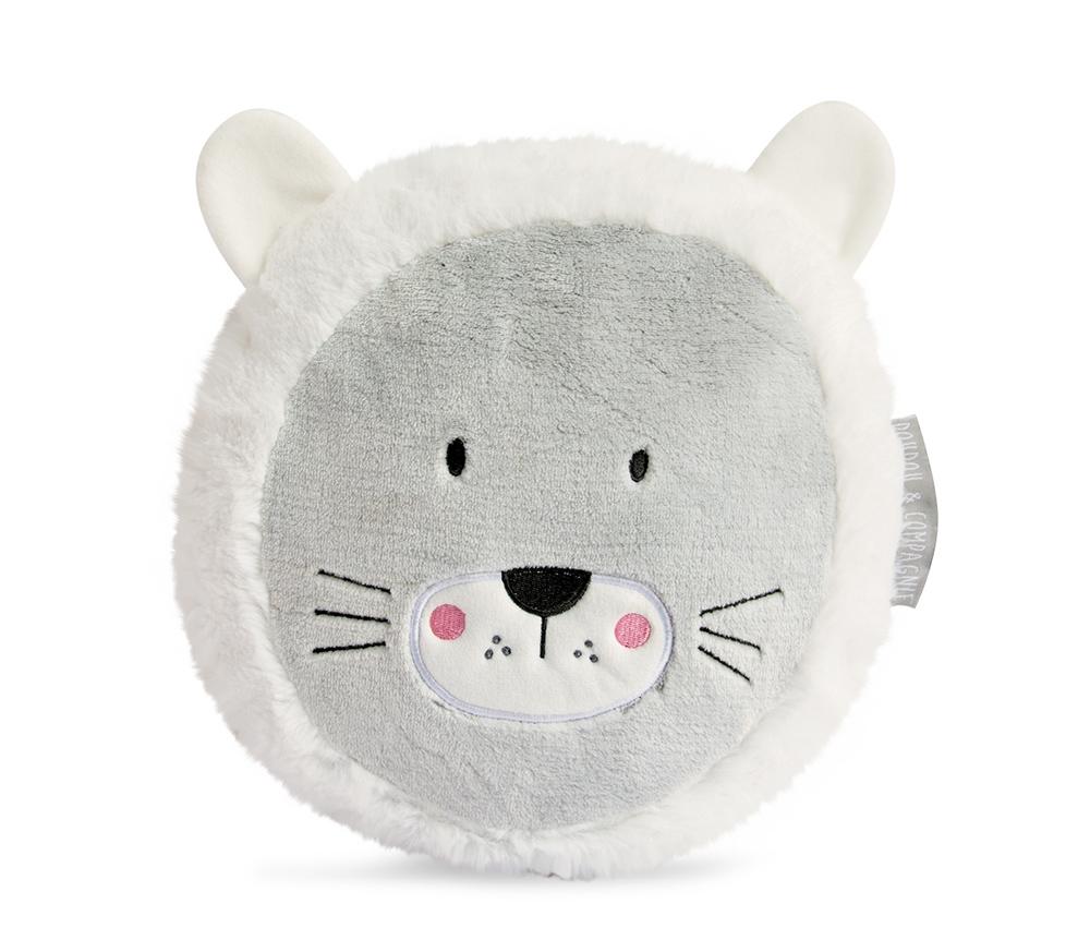 Doudou Löwe Kissen organic - weiß