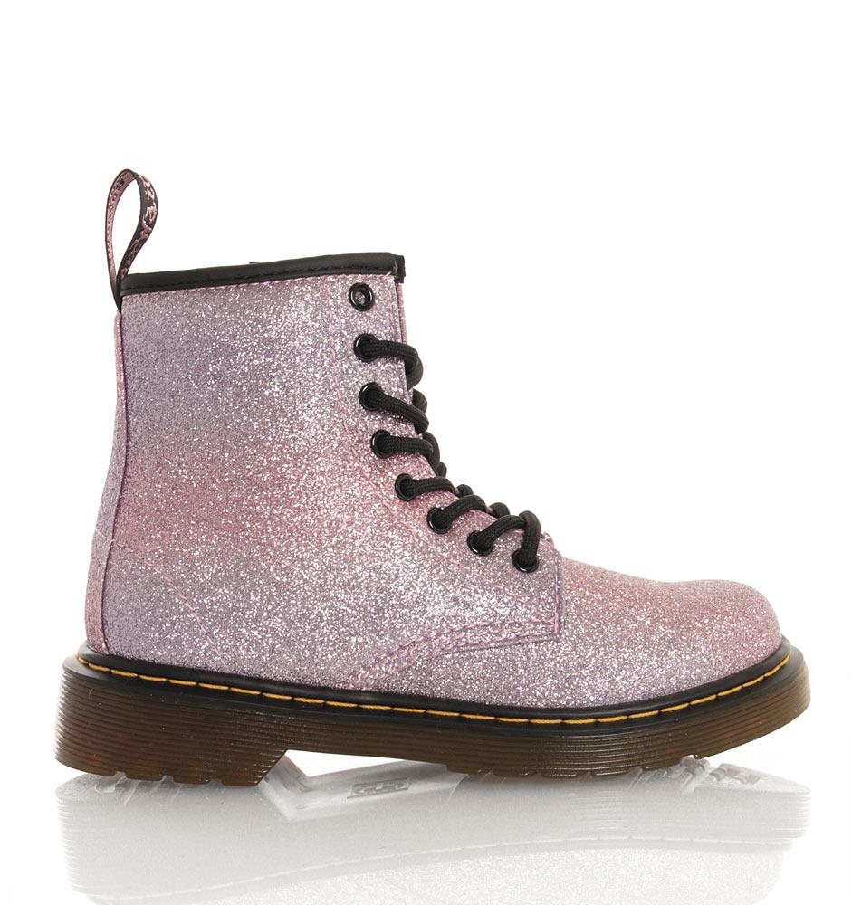 Dr. Martens Delaney Boots mit Glitzer in pink