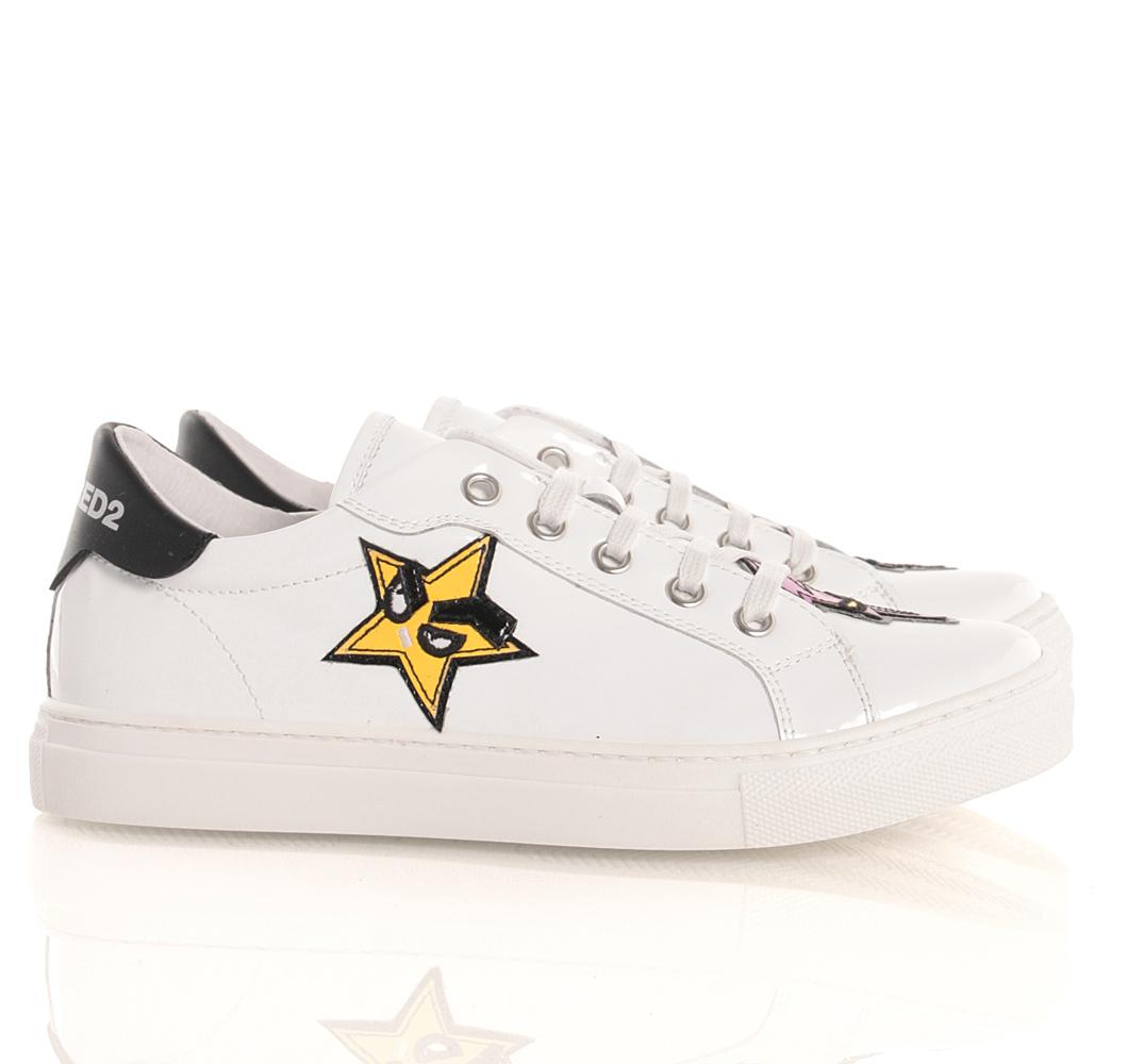 5a81ce0b6caf14 Sneaker aus Lack-Leder in weiss