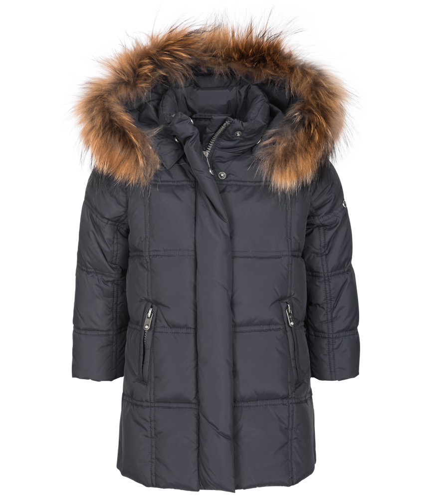 Eddie Pen Baby Paradise down parka within anthracite