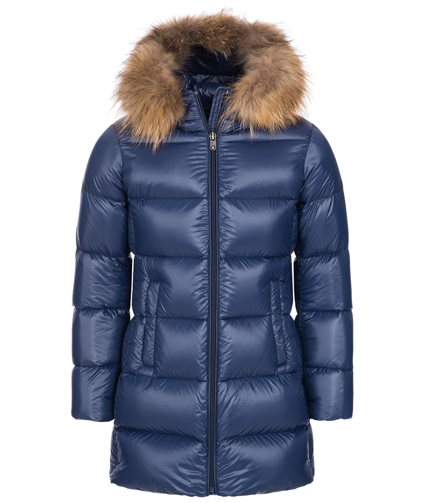 Eddie Pen Willow 2 Daunenparka mit Echtfell in blau