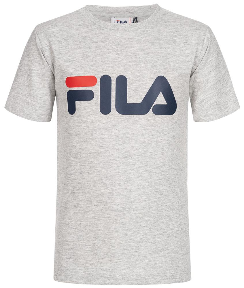 FILA Classic Logo T-Shirt Unisex - grau