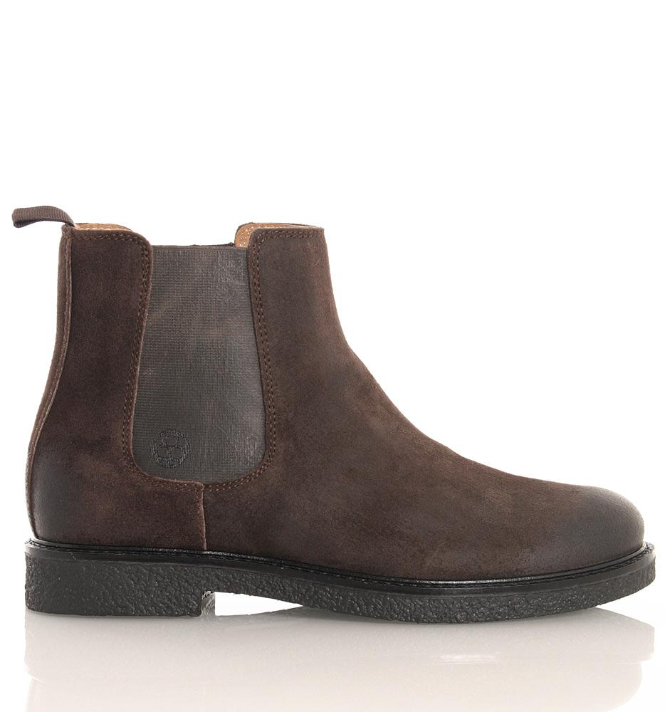 Florens Chelsea Boots im Vintage Style aus Leder in braun