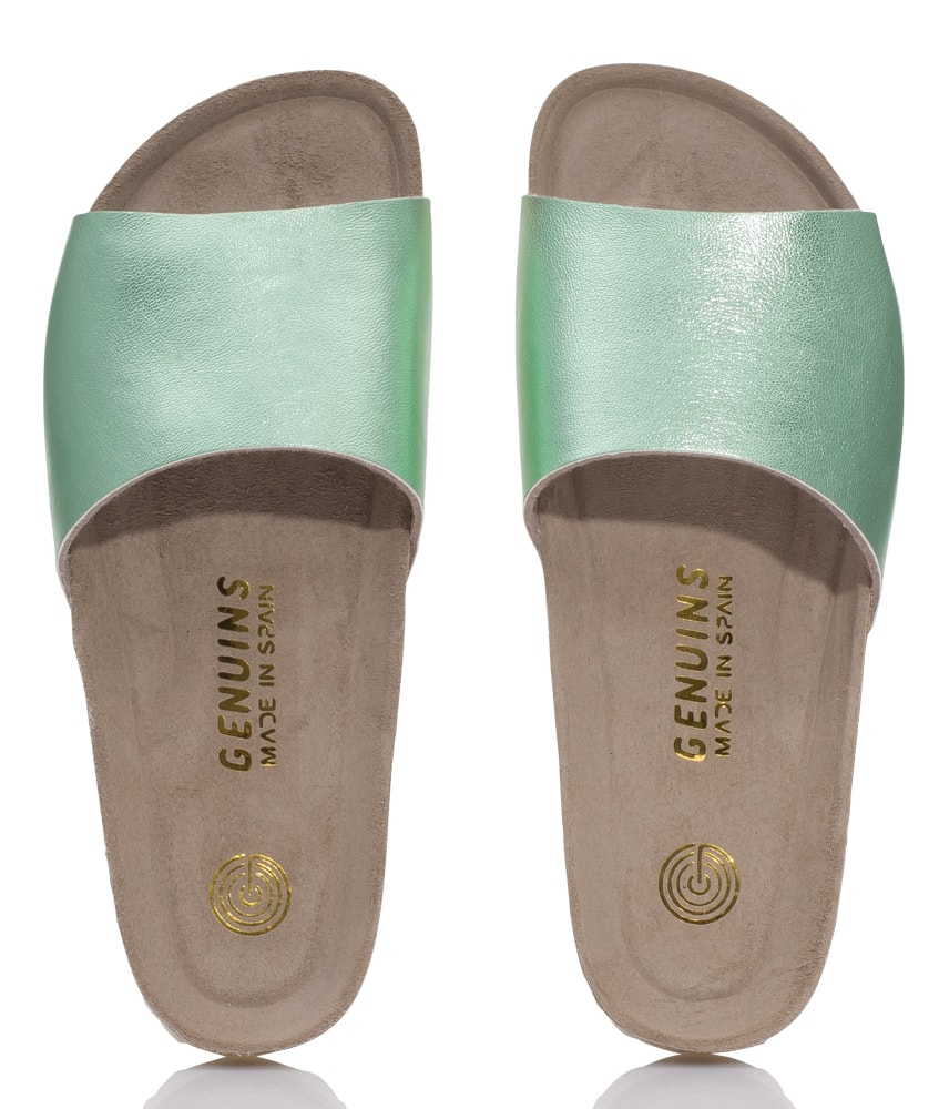 Genuins leather sandals Fundy in aqua