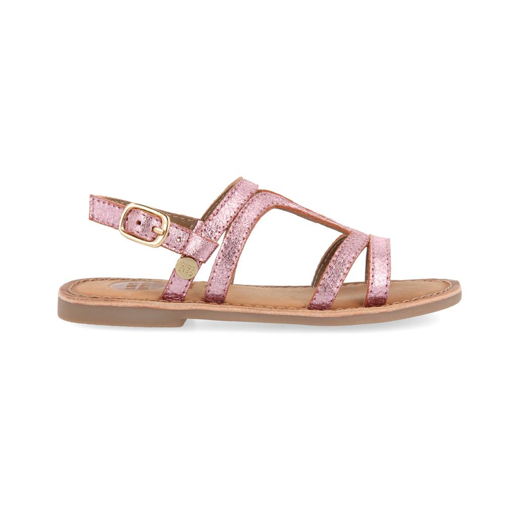 Gioseppo Metallic leather sandal Collegno - fuchsia