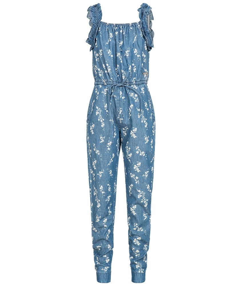 Guess Jumpsuit im Jeanslook mit Blumenprint - blau