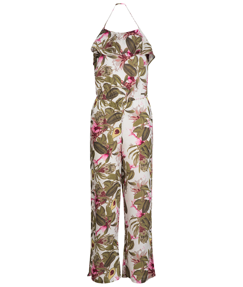 Guess Jumpsuit in oliv mit Allover Druck