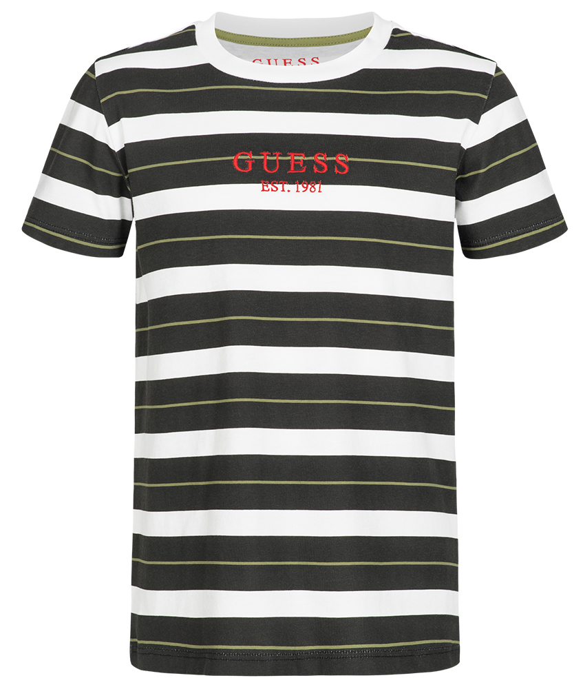 8e0bcb3e6d Kids Style Lounge | Guess striped t-shirt with embroidered logo ...