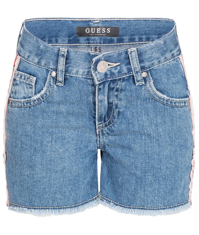 Guess Shorts mit Track-Stripes - blau