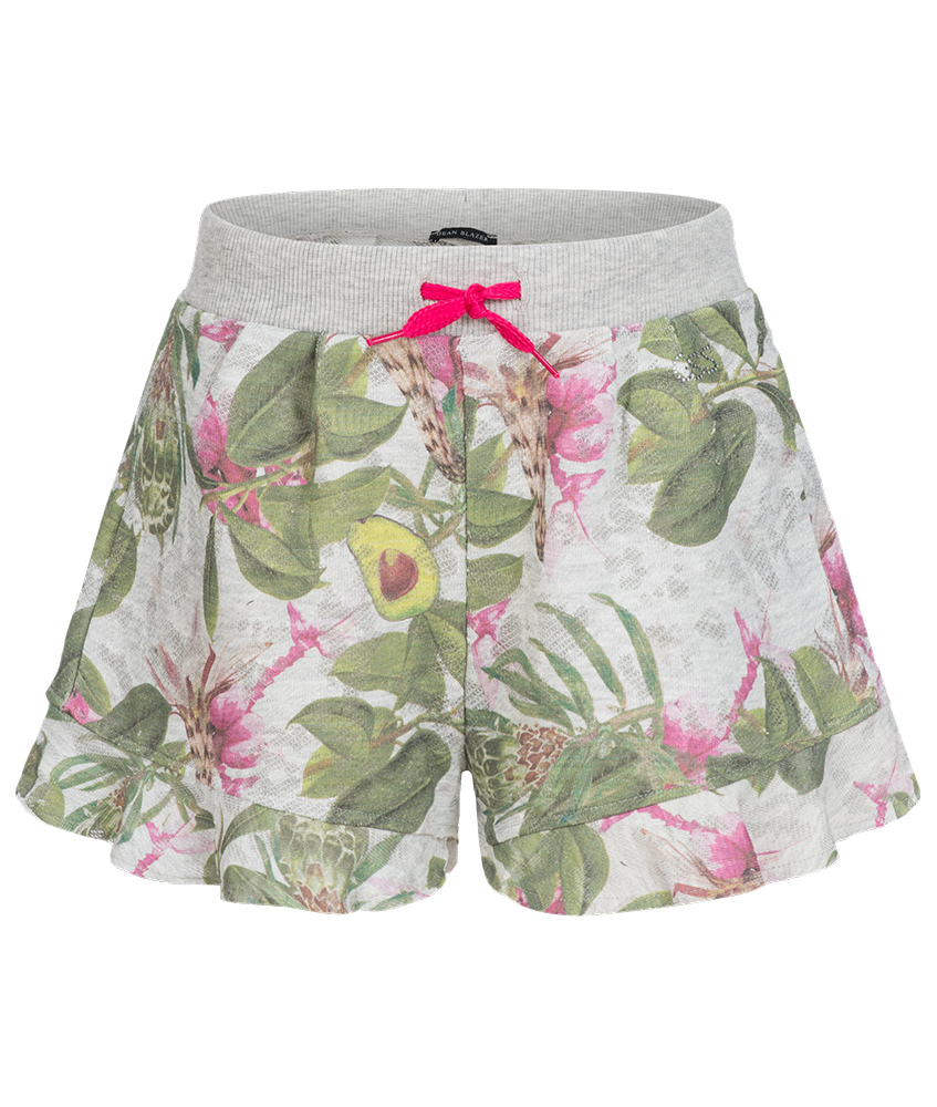 Guess Shorts mit Avocado Print in grau