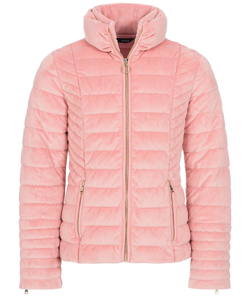 Guess Samtjacke in rosa