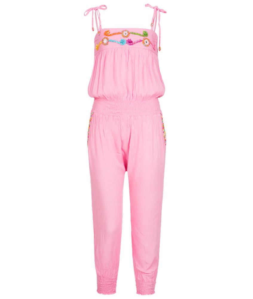 Hot Lava Jumpsuit mit Perlen und Pailetten in pink