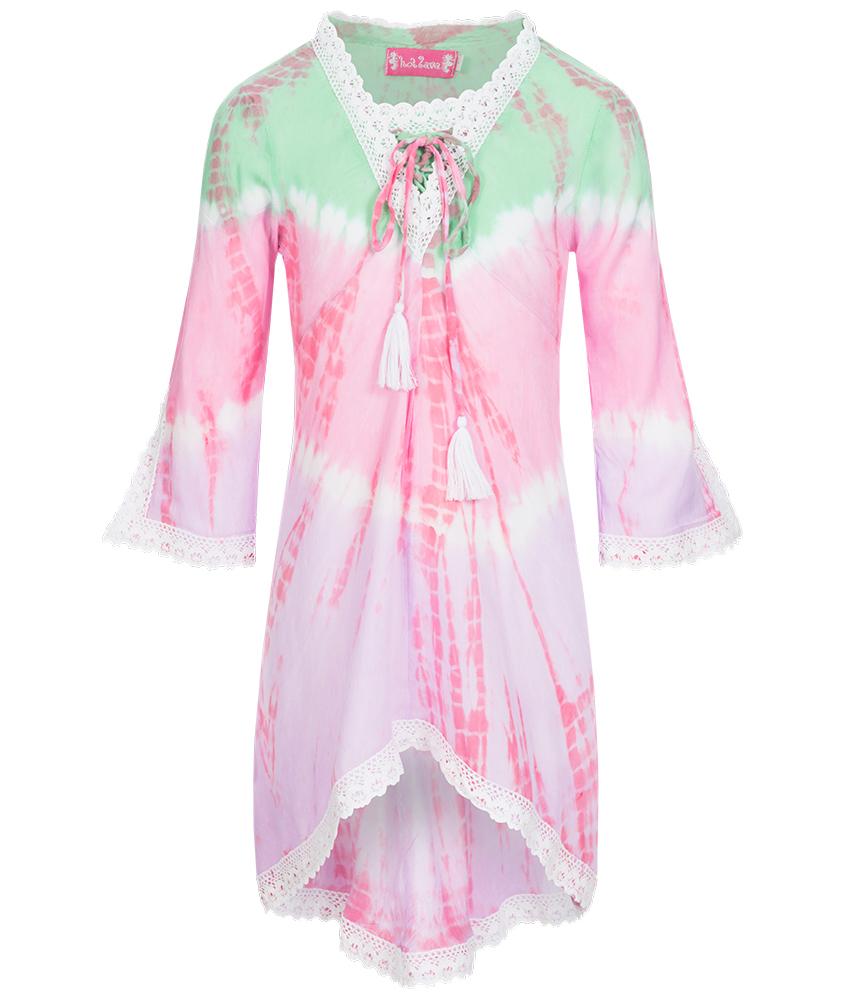 Hot Lava Kinder Tunika-Kleid Handmade in pink