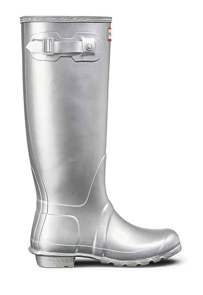 Hunter Womens Original Classic Gummistiefel in silver