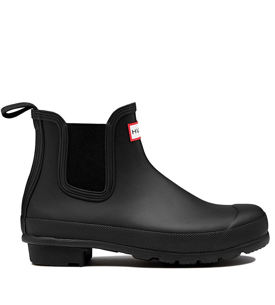 Hunter Womens Original Chelsea-Boots in schwarz