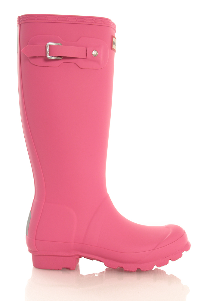 Hunter Original Kids Wellington Boots in pink