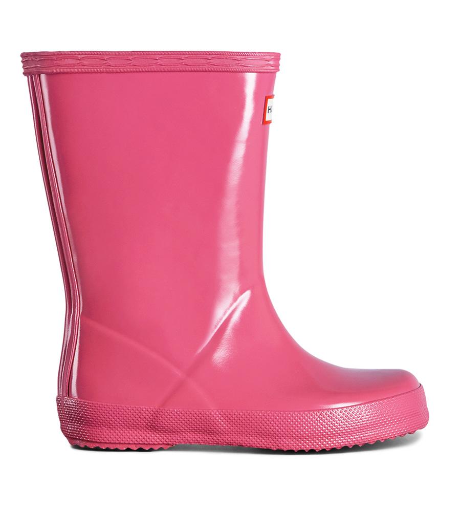 Hunter Kids First Gloss Gummistiefel glänzend in pink