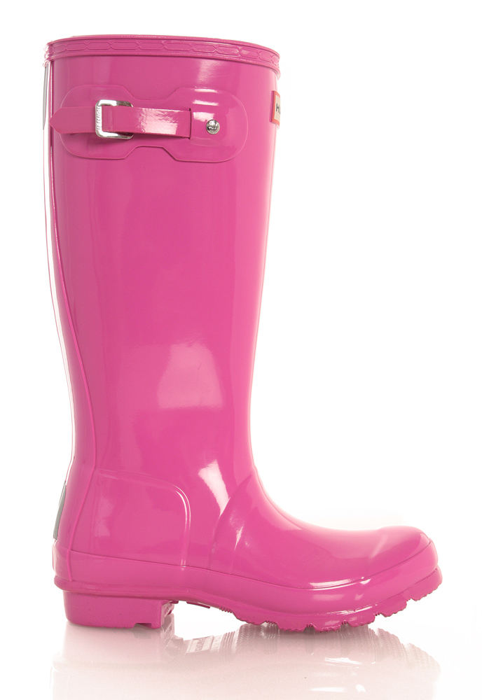 Hunter Original Kids Wellington Boots glänzend in pink