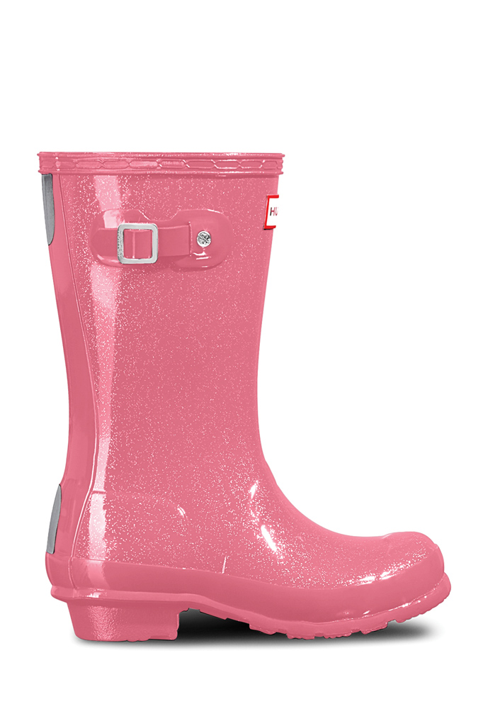 Hunter Original Kids Wellington Boots glänzend in panther pink