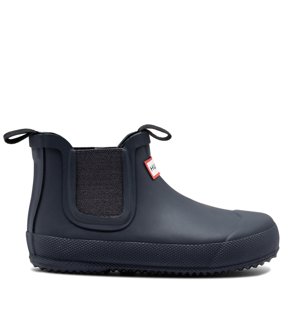 Hunter Kids Flat Sole Chelsea-Boots in navy