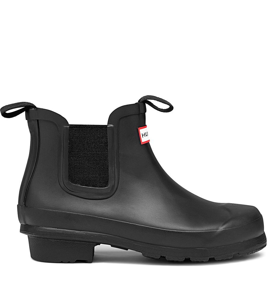 Hunter Original Kids Chelsea-Boots in schwarz