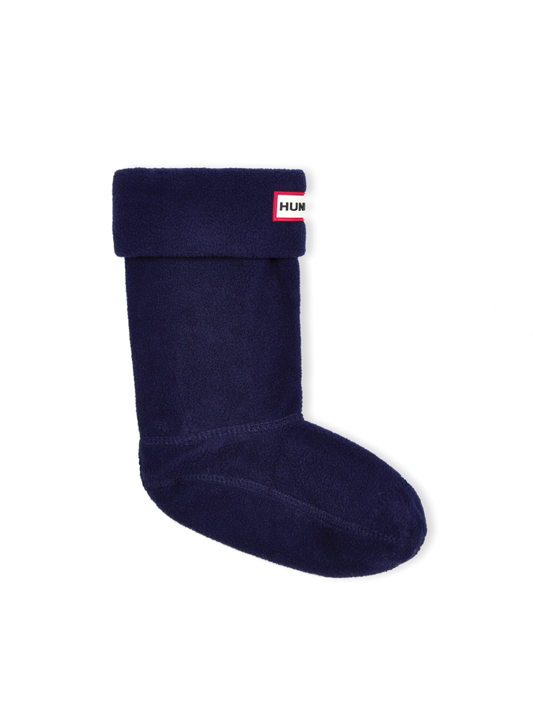 Hunter Mikro-Fleece Stiefelsocken in navy