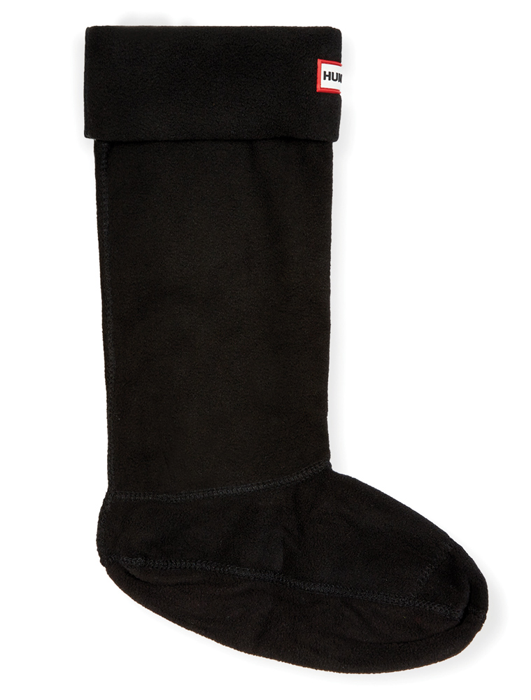 Hunter Mikro-Fleece Stiefelsocken in schwarz