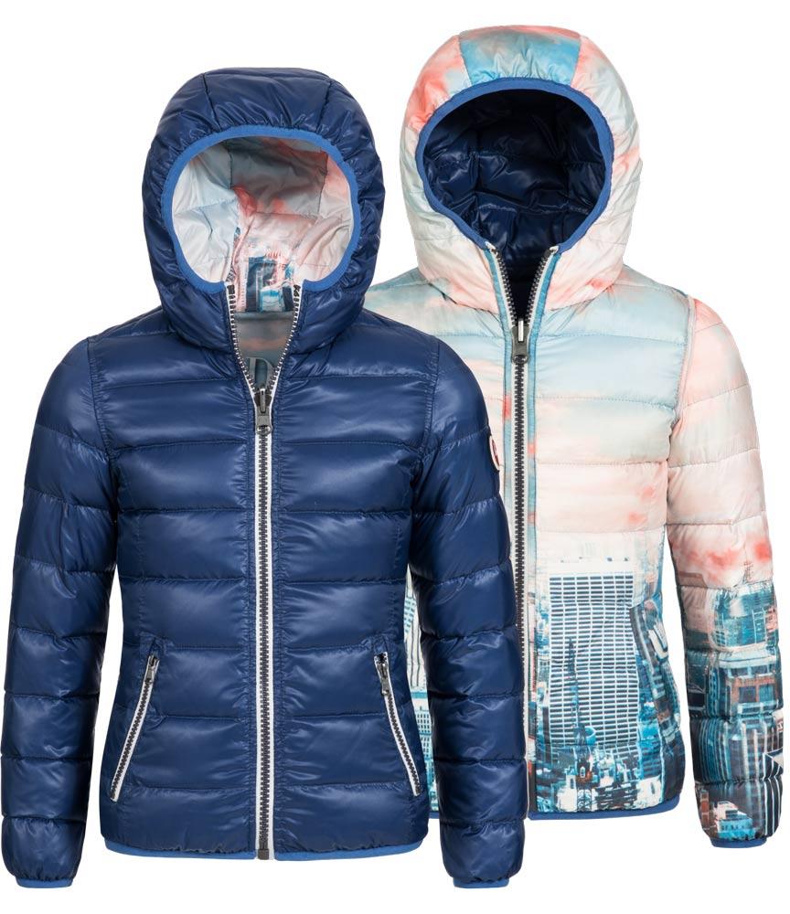 Hyros Wendejacke New York mit Daunen in blau