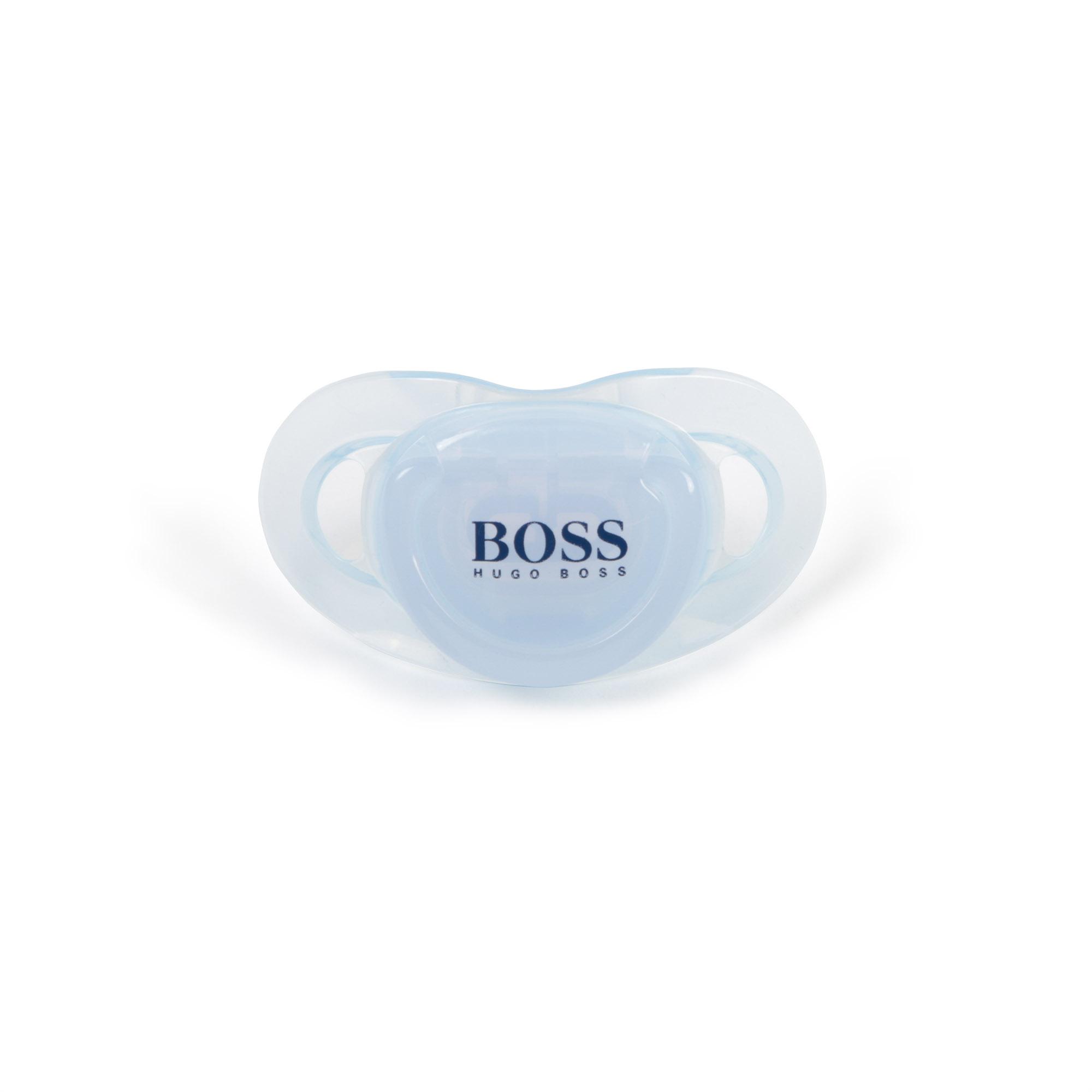 Hugo Boss baby pacifier - light blue