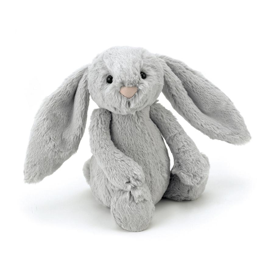 Jellycat Bashful Silver Bunny in grey (S-XXL)