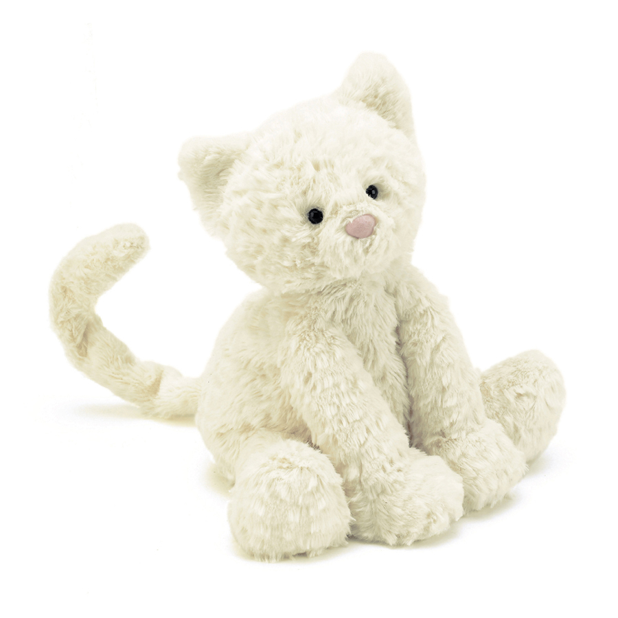 Jellycat Fuddlewuddle Kitty Medium in white - 23 cm