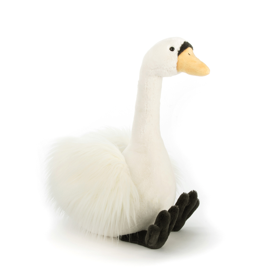 Jellycat Solange Swan in natural white (M-L)