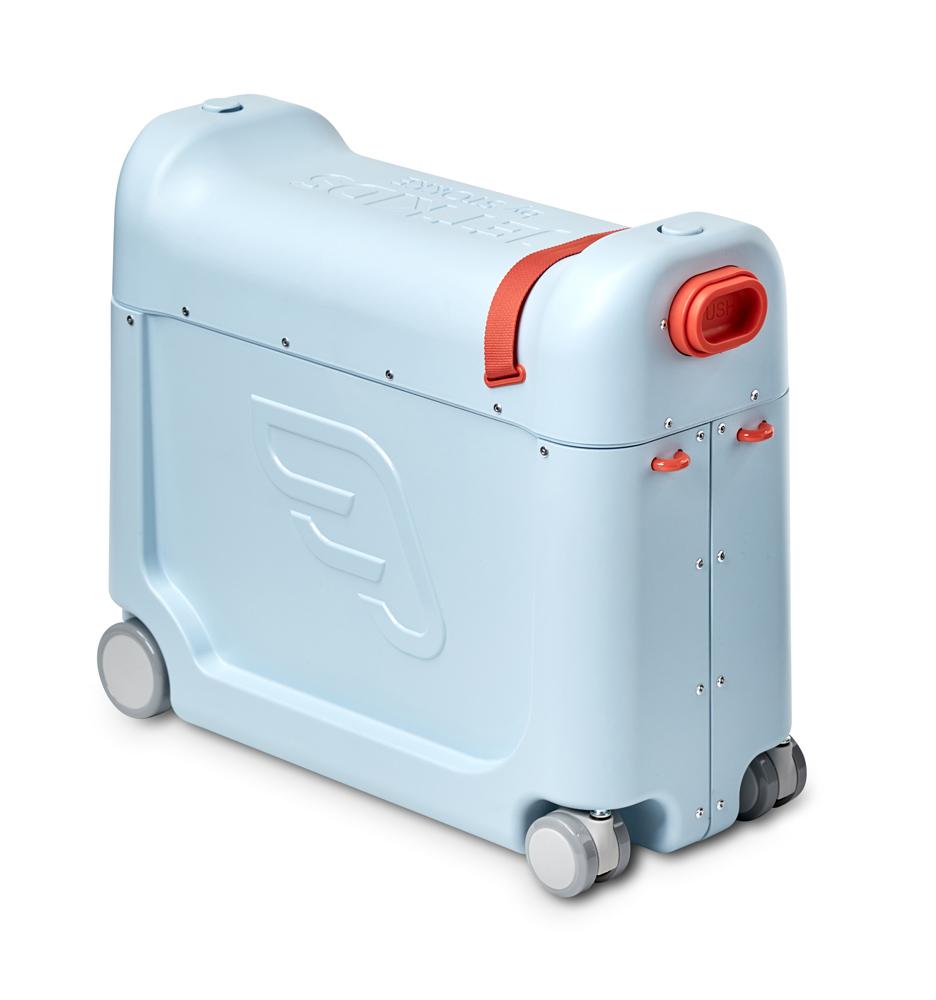 BedBox Ride-On Koffer mit integriertem Flugzeugbett - Blue Sky