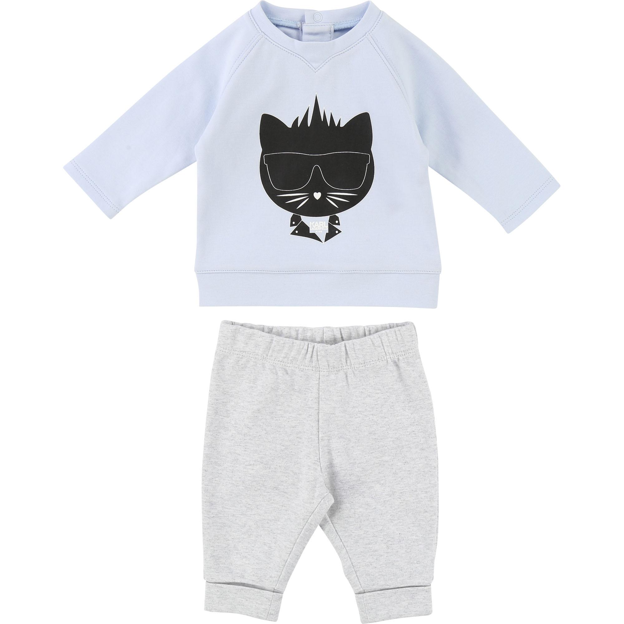 Karl Lagerfeld baby set in light blue-grey